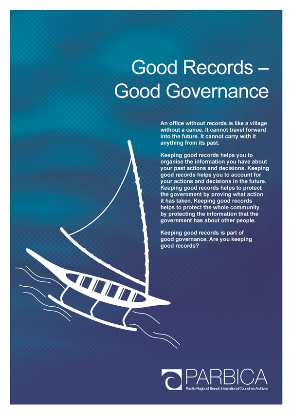 Recordkeeping for Good Governance Poster